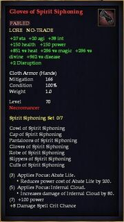Gloves of Spirit Siphoning