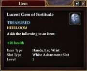 Lucent Gem of Fortitude