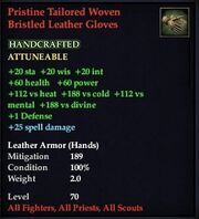 Pristine Tailored Woven Bristled Leather Gloves