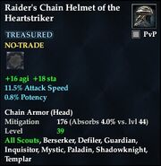Raider's Chain Helmet of the Heartstriker