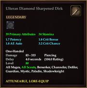 Ulteran Diamond Sharpened Dirk