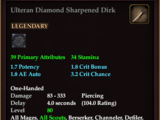 Ulteran Diamond Sharpened Dirk