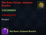 War Rune Recipe: Adamant Resolve