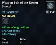 Weapon Belt of the Desert Sword