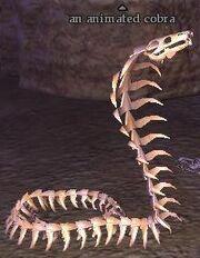 An animated cobra
