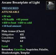 Arcane Breastplate of Light