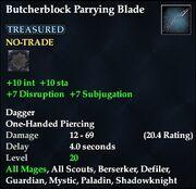 Butcherblock Parrying Blade