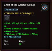 Crest of the Greater Nomad