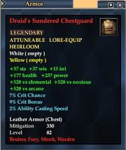 Druid's Sundered Chestguard