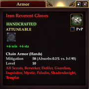 Iron Reverent Gloves