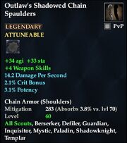 Outlaw's Shadowed Chain Spaulders