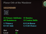 Planar Orb of the Wanderer