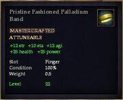Pristine Fashioned Palladium Band