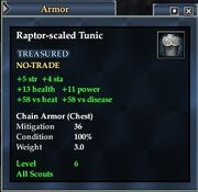 Raptor-scaled Tunic