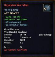 Rujarkian War Maul