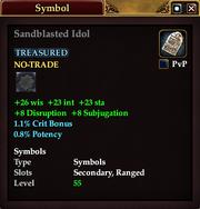 Sandblasted Idol