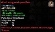 Silvril vanguard spaulders