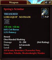 Spring's Scimitar