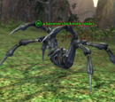 A haywire clockwork spider