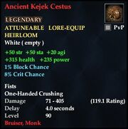 Ancient Kejek Cestus