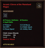 Arcanic Gloves of the Wasteland Magus