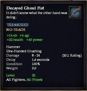 Decayed Ghoul Fist