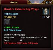 Hanshi's Balanced Leg Wraps