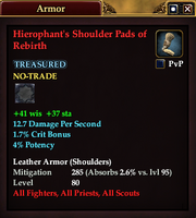 Hierophant's Shoulder Pads of Rebirth