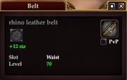 Rhino leather belt