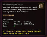 Shadowblight Cleave