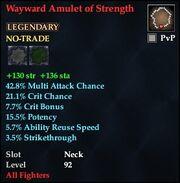 Wayward Amulet of Strength
