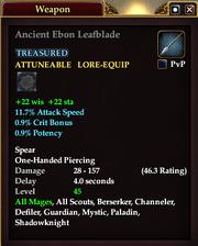 Ancient Ebon Leafblade