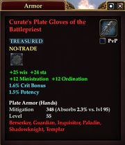 Curate's Plate Gloves of the Battlepriest