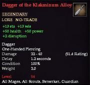 Dagger of the Klakminum Alloy