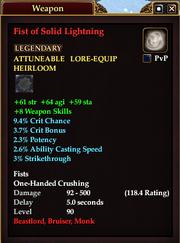 Fist of Solid Lightning