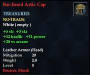 Fur-lined Artic Cap