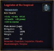 Legplates of the Inspired