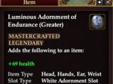 Luminous Adornment of Endurance (Greater)