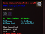 Prime Shaman's Chain Coif of Insight (0 Gem)