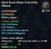 Steel Reed Chain Coif of the Othmir