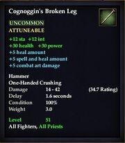 Cognoggin's Broken Leg