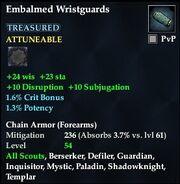 Embalmed Wristguards