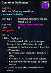 Gossamer Deflection