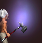 Massive Hammer of the Mists (Equipped)