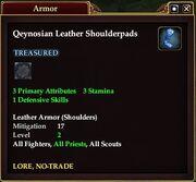 Qeynosian Leather Shoulderpads
