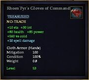 Rhoen'Fyr's Gloves of Command