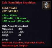 Zek Demolition Spaulders