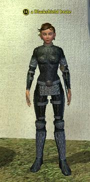 A Blackshield brute (Commonlands) (half elf)
