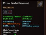 Devoted Sanctus Handguards