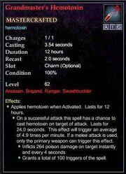Grandmaster's Hemotoxin